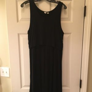 Gap Black Nursing Tank Dress